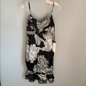NWT! Sue Wong Ladies Black & White Evening Gown